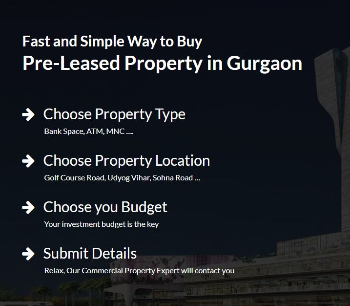 Pre-Leased property for sale in gurgaon