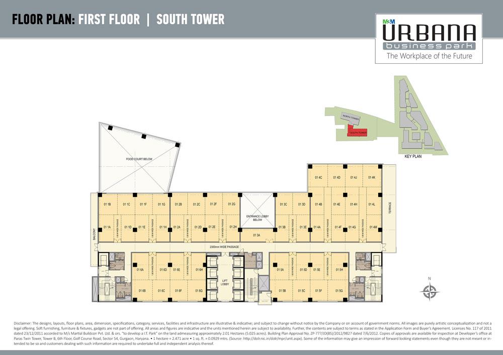 M3m urbana business park commercial project gurgaon for Business floor plan design